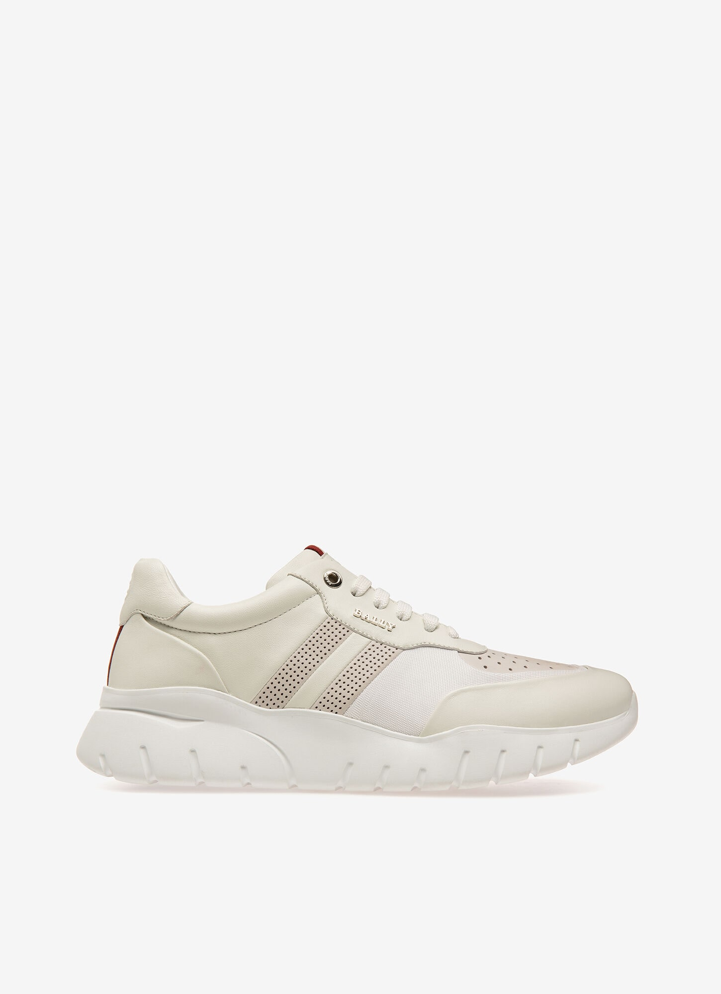 Bison| Mens Sneakers | White Leather