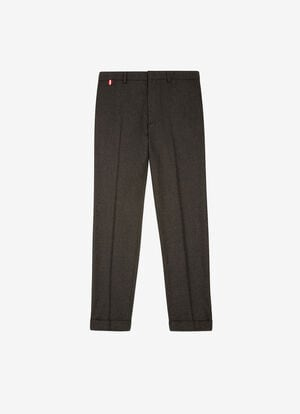 GREY MIX WOOL Pants - Bally