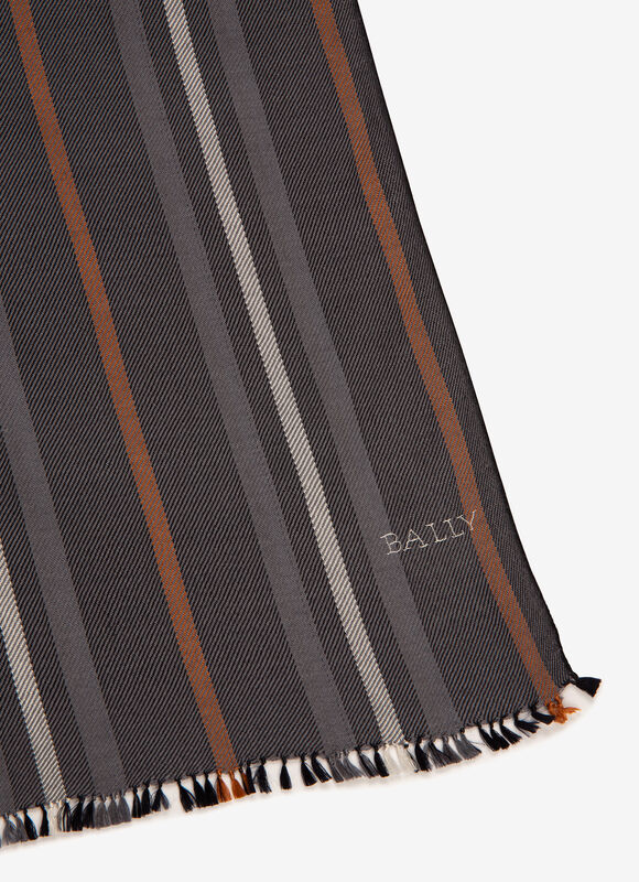 GREY MIX WOOL/SILK Scarves - Bally
