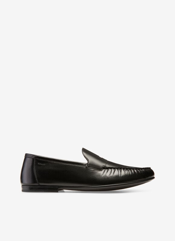BLACK BOVINE Loafers and Moccasins - Bally