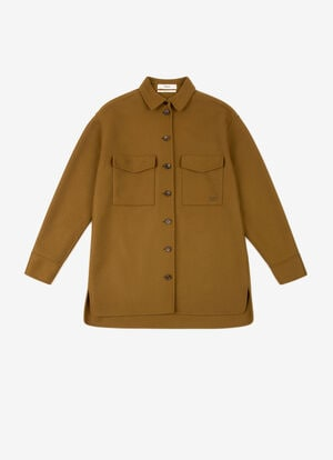 BROWN MIX WOOL/ACRYL Outerwear - Bally
