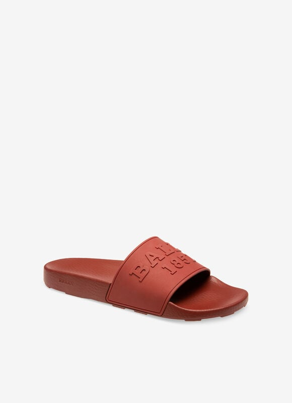 RED RUBBER Sandals and Slides - Bally