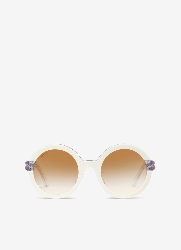 WHITE PLASTIC Sunglasses - Bally