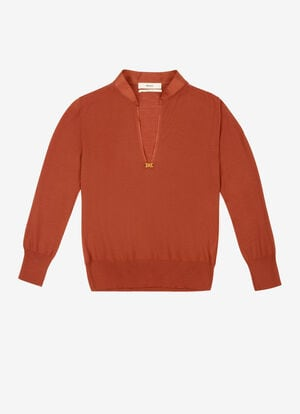 ORANGE WOOL Knitwear - Bally