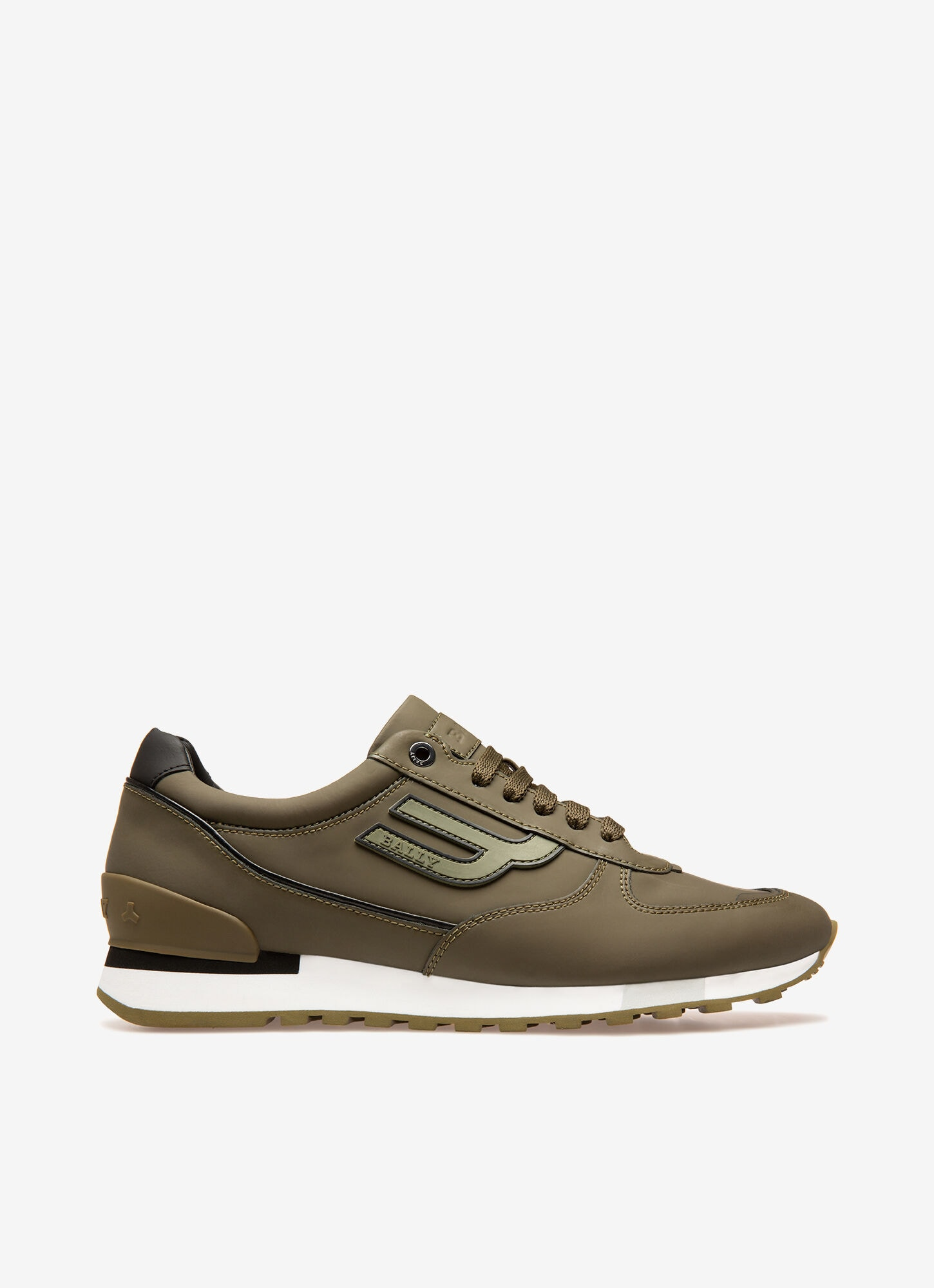 Mens Sneakers | Dark Green Leather | Bally