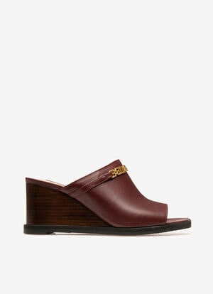 BURGUNDY CALF Sandals - Bally