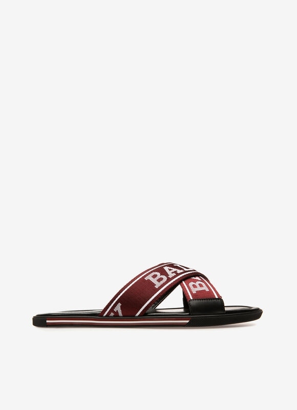 RED SYNTHETIC Sandals and Slides - Bally
