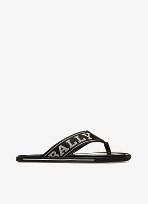 BLACK SYNTHETIC Sandals and Slides - Bally