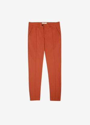 ORANGE COTTON Pants - Bally