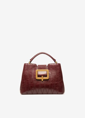 BURGUNDY BOVINE Top Handle Bags - Bally