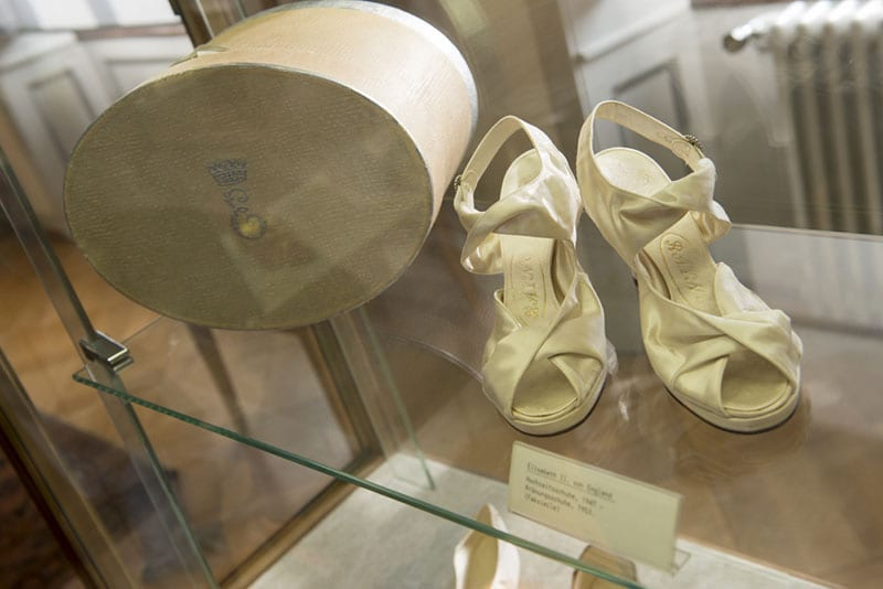 HRH Queen Elizabeth II wedding shoes