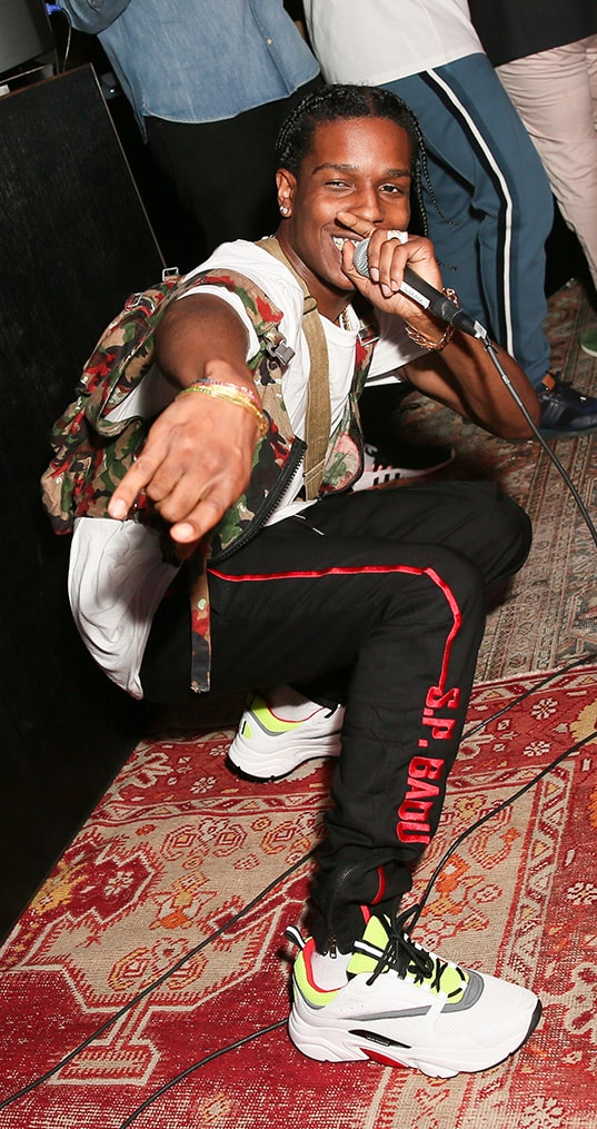 A$AP Rocky performing at the Bally x Swizz Party at Public Arts, NYC