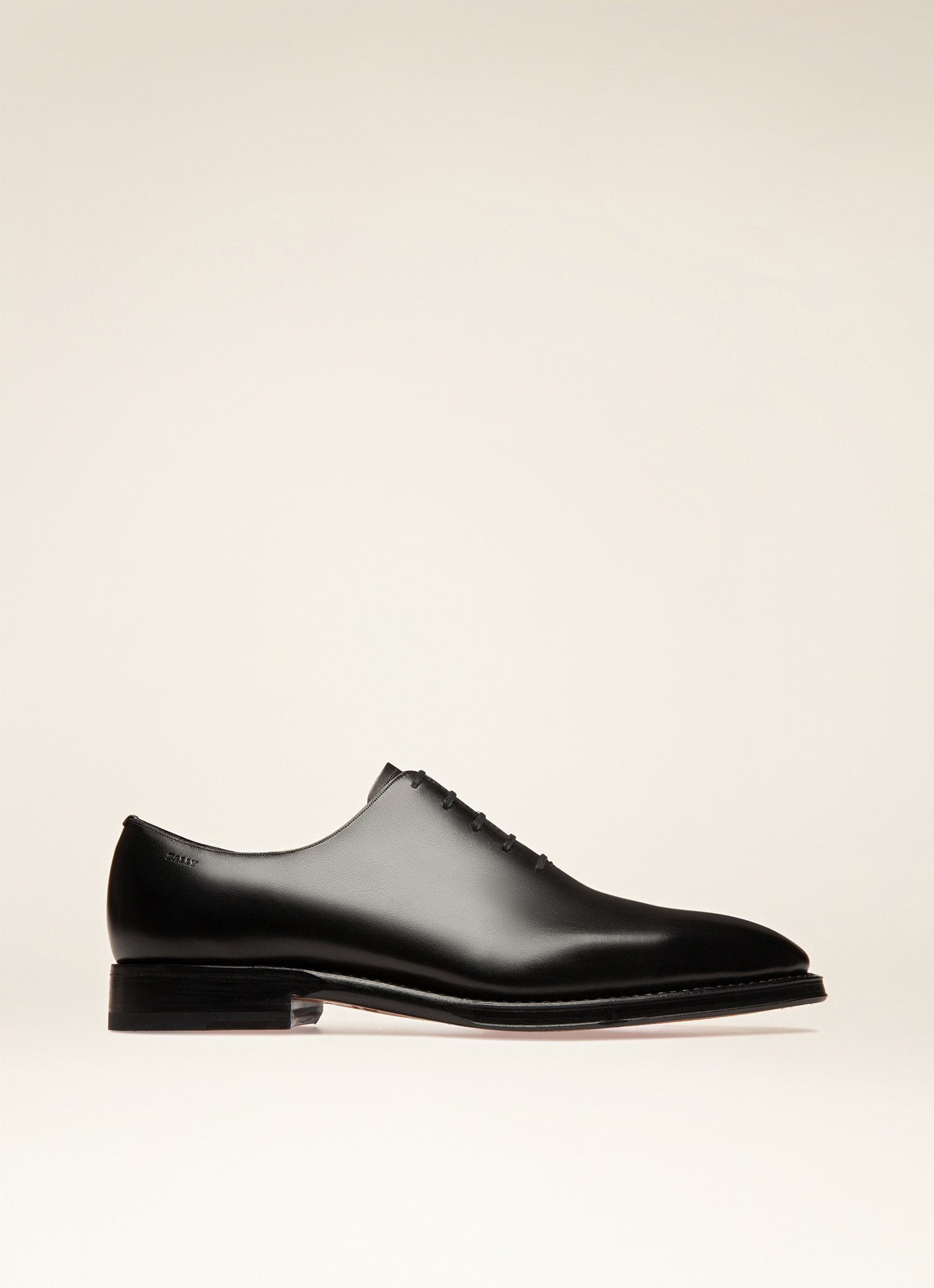 black leather shoes with laces